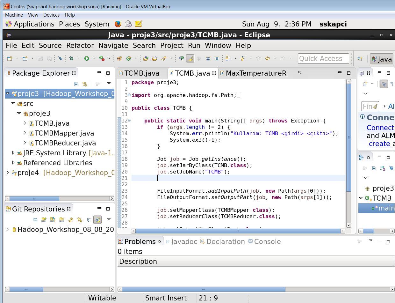 IDE olarak Eclipse ortamı kullanıldı.